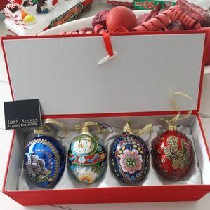 Joann Rivers Christmas Eggs Ornaments